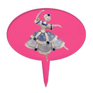 Jeweled Ballerina Cake Picks