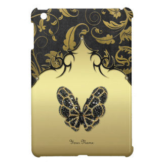 Jeweled Butterfly Damask - Customize iPad Mini Cover
