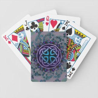 Jeweled Celtic Fractal Mandala Poker Deck