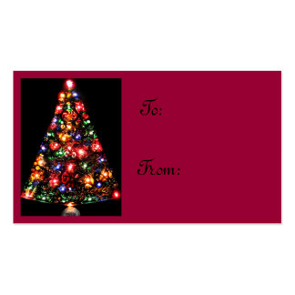 Jeweled Christmas Tree Gift Tags Business Cards
