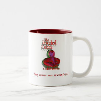"""""""Jeweled Cobra Mug"""" crimson red Two-Tone Mug"""