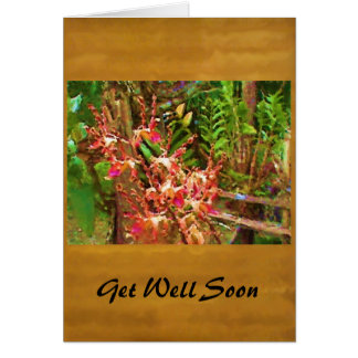 Jeweled Dendrobiums Greeting Card
