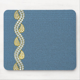 Jeweled - denim mouse mat