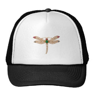 Jeweled Dragonfly Art Trucker Hat