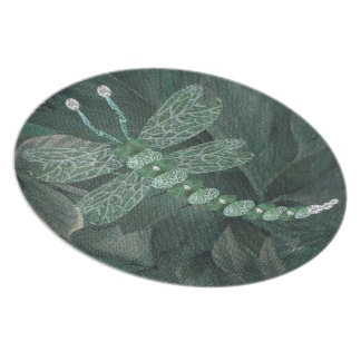 Jeweled Dragonfly Dinner Plate