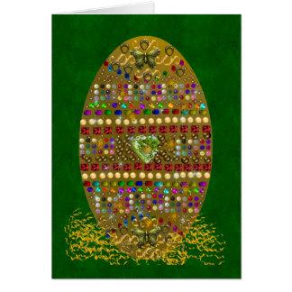 Jeweled Easter Egg Card