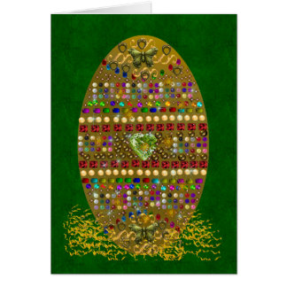 Jeweled Easter Egg Greeting Card