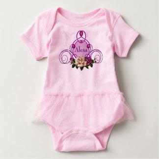Jeweled Fairy Frame Pink Baby Tutu Bodysuit