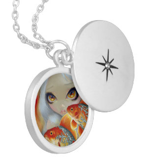Jeweled Fish Silver and Gold Locket