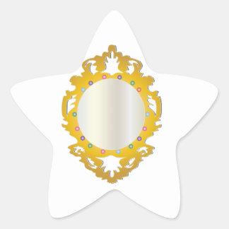 Jeweled Framed Mirror Star Sticker