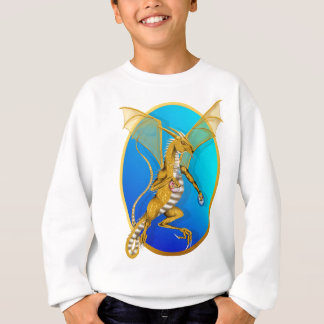 Jeweled Gold Dragon Oval Shirt