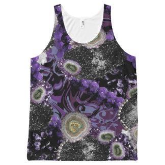 Jeweled In Purple All-Over Print Tank Top