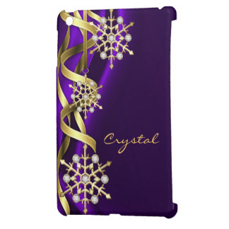 Jeweled Jazzy Snowflake Purple Mini Ipad Case