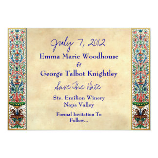 Jeweled Medieval Manuscript  Invitation Card