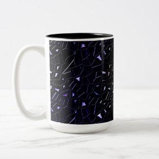 Jeweled Night Sky Rainbow Glitter Two-Tone Coffee Mug