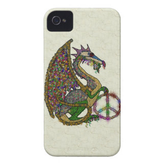 Jeweled Peace Dragon Blackberry Cases