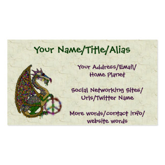 Jeweled Peace Dragon Pack Of Standard Business Cards