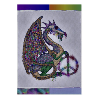 Jeweled Peace Dragon Pack Of Chubby Business Cards