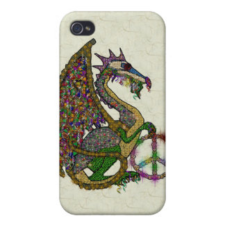Jeweled Peace Dragon iPhone 4/4S Cover