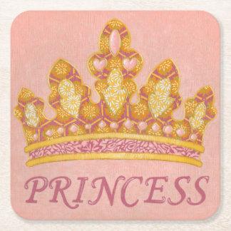 Jeweled Princess Crown by Chariklia Zaris Square Paper Coaster