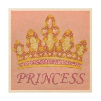 Jeweled Princess Crown by Chariklia Zaris Wood Print