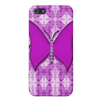 Jeweled & Rhinestone butterfly Faux IPhone 4 Case