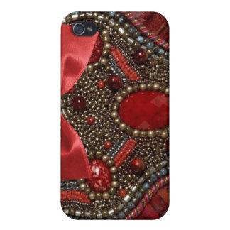 Jeweled & Rhinestone faux I Phone Case Cases For iPhone 4