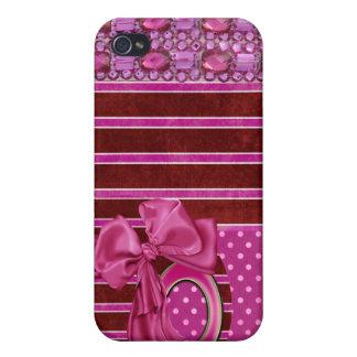 jeweled & Rhinestone faux I Phone Case iPhone 4 Covers