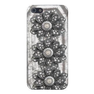 Jeweled & Rhinestone faux I Phone Case iPhone 5/5S Covers