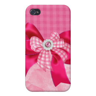 Jeweled,ribbon,bows & faux Rhinestone I Phone Case Case For The iPhone 4
