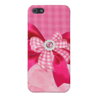 Jeweled,ribbon,bows & faux Rhinestone I Phone Case Covers For iPhone 5