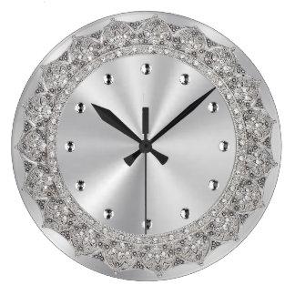 Jeweled Silver Clocks