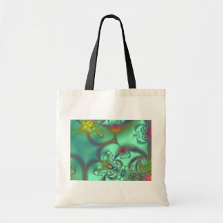 Jeweled Staircase - Abstract Emerald Kaleidoscope Tote Bags