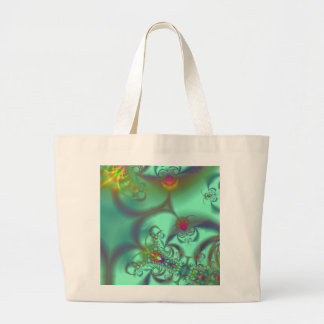 Jeweled Staircase - Abstract Emerald Kaleidoscope Tote Bag