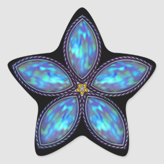 Jeweled Star - Blue Star Sticker