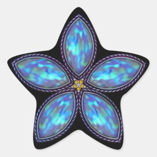 Jeweled Star - Blue Stickers