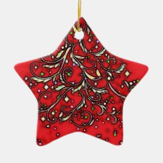 Jeweled Star! Ceramic Star Decoration