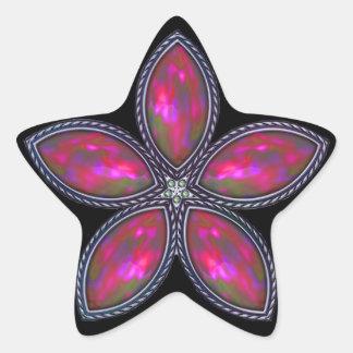 Jeweled Star - Cranberry Star Sticker