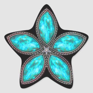 Jeweled Star - Cyan 2 Star Sticker