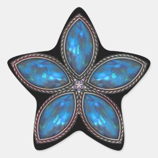 Jeweled Star - Dk Blue Star Sticker