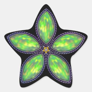 Jeweled Star - Green 2 Star Sticker
