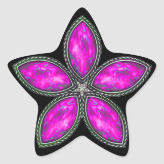 Jeweled Star - Magenta 2 Star Sticker