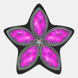 Jeweled Star - Magenta 2 Star Stickers