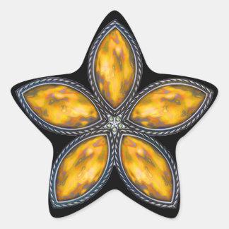 Jeweled Star - Orange Star Sticker