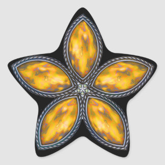 Jeweled Star - Orange Star Stickers