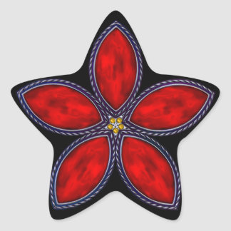 Jeweled Star - Red 1 Star Stickers