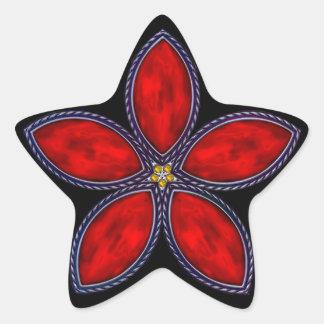 Jeweled Star - Red 1 Star Stickers