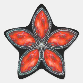 Jeweled Star - Red 2 Star Sticker