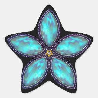 Jeweled Star Stickers - Cyan Blue Stickers