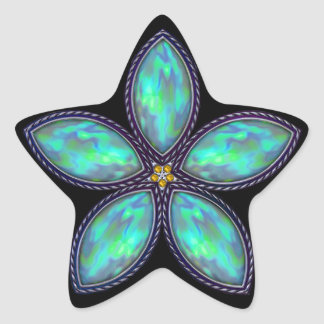 Jeweled Star - Teal Star Sticker